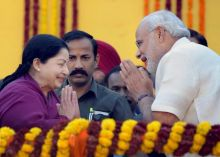 J Jayalalitha (left) and Narendra Modi