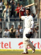 Cheteshwar Pujara marks his arrival with a double hundred in Tests.