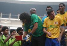 Former Colombian goalkeeper Rene Higuita