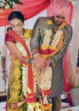 Shweta Salve and Harmeet Sethi on their wedding