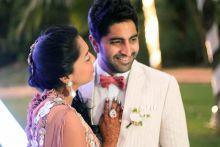 Shweta Salve and Harmeet Sethi on their wedding reception