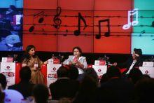 COO, Lifestyle Magazines and Music Today Mala Sekhri, Kailash Kher and Ali Zafar at Agenda Aaj Tak 2012