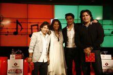 Kailash Kher, Rekha Purie, Ali Zafar and Shafqat Amanat Ali at Agenda Aaj Tak 2012