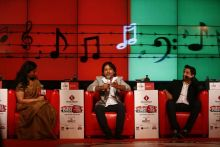 Kailash Kher and Pakistani singers Ali Zafar and Amanat Ali at Agenda Aaj Tak 2012