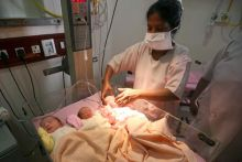 Triplets born in New Delhi