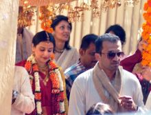 Vidya Balan in her wedding attire.