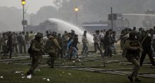 Delhi Police use water cannon to disperse angry protesters