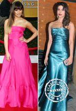 Lea Michele at the SAG Awards versus Priyanka Chopra at Filmfare Awards
