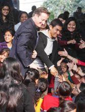 British PM David Cameron with actor Aamir Khan