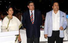 Mamata Banerjee, N Srinivasan and Rajeev Shukla
