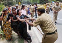 BJP's Mahila Morcha activists