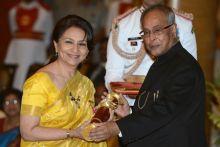 Sharmila Tagore receives Padma Shri award
