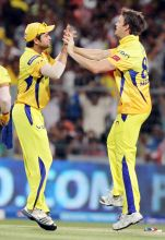 From left: Suresh Raina and Albie Morkel