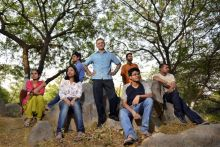 JNU vice-chancellor Sudhir Kumar Sopory with students