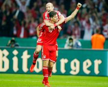 Arjen Robben and Mario Gomez
