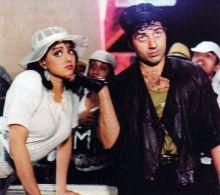 Sridevi with Sunny Deol