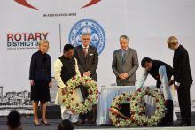 Princess Astrid, Deputy PM Didier Reynders, Shashi Tharoor, Mumbai terror victims, Gateway of India, Mumbai