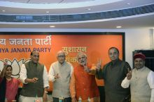 BJP leaders and Narendra Modi