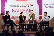 (From left) Joseph O'Neill, Rivka Galchen, Philip Hensher and Vikram Chandra