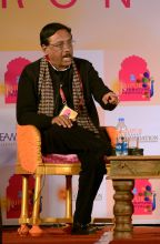 Author Pavan Varma during JLF Lit fest Jaipur on Sunday.