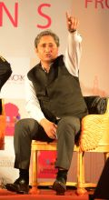 Senior TV journalist Ravish Kumar during JLF Lit fest Jaipur on Sunday.