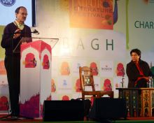 Dr Harold Varmus in conversation with Suman Sahai during JLF Lit fest