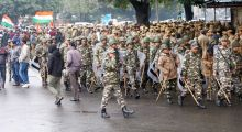 AAP protest, Security men