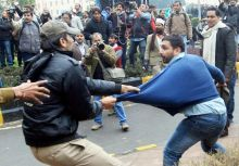 AAP protest, Delhi Police