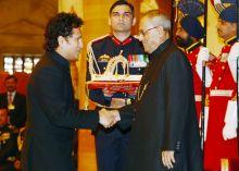 Sachin Tendulkar & Pranab Mukherjee
