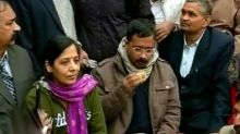 Arvind with his wife Sunita Kejriwal.