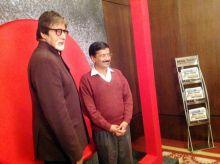 Amitabh Bachchan with Arvind Kejriwal