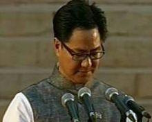 Kiren Rijiju, Team Modi oath ceremony