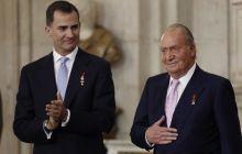 Crown Prince Felipe and King Juan Carlos of Spain