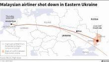 A Malaysian airliner was shot down over eastern Ukraine by militants on Thursday, killing all 295 people aboard.