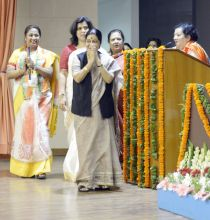 Sushma Swaraj, BJP Mahila Morcha National Executive Meeting