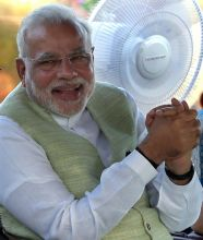 Modi at 'At Home' function hosted by President Pranab Mukherjee