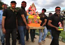 Ganesha idol immersion