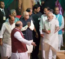 Amit Shah, Narendra Modi, LK Advani, Rajnath Singh