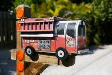 fire truck-shaped mailbox