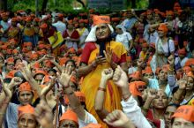 Asaram Bapu supporters protest