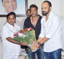ajay devgn, rohit shetty, rr patil