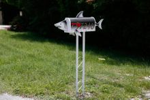 shark-shaped mailbox