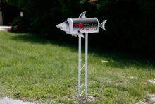 shark-shaped mailbox