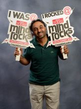 Comedian and MP Bhagwant Mann at the India Today Mind Rocks Youth Summit Chandigarh 2014.