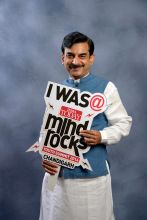 Additional Media advisor to CM, Punjab, Vineet Joshi at India Today Mind Rocks Youth Summit 2014 in Chandigarh.