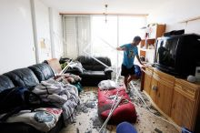 The damage in Israel by rockets fired from Gaza in the southern coastal city of Ashkelon