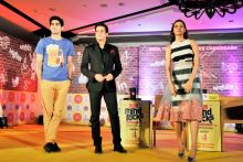 Jimmy Shergill with Vijender Singh and Esha Gupta at the India Today Mind Rocks Youth Summit 2014 in Chandigarh.