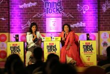 Kirron Kher at the India Today Mind Rocks Youth Summit 2014 in Chandigarh.