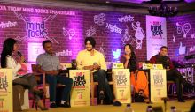 Actors and producer of the controversial punjabi film 'Kaum De Heere' at the India Today Mind Rocks 2014.