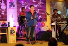 Sukhwinder Singh at the India Today Mind Rocks 2014 in Chandigarh.